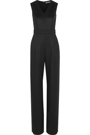 MAX MARA Jacquard-paneled virgin wool jumpsuit