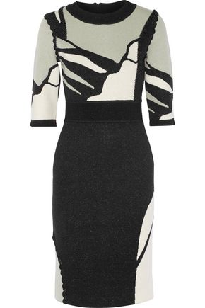 RAOUL Intarsia stretch-knit dress