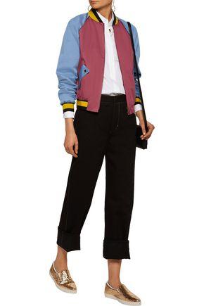 TOMAS MAIER Color-block cotton-blend bomber jacket