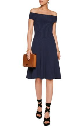 MICHAEL KORS COLLECTION Plated stretch-wool dress