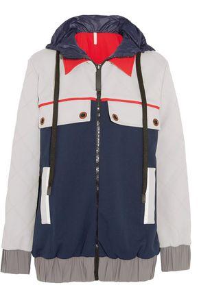 NO KA 'OI Hooded shell-trimmed stretch-jersey jacket