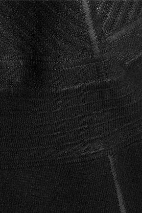 JUST CAVALLI Coated jacquard-knit and ribbed-knit mini dress