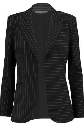 NORMA KAMALI Pinstriped crepe blazer