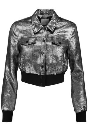 CINQ À SEPT Kane metallic jersey jacket