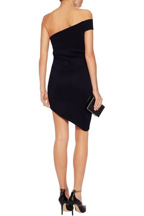 SAFIYAA One-shoulder asymmetric jersey mini dress