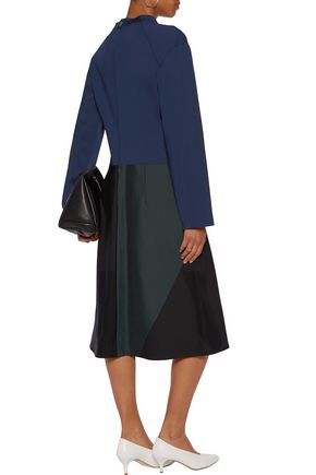 JIL SANDER Paneled ponted dress