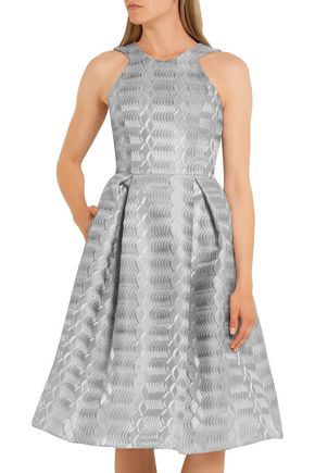 MARY KATRANTZOU Laguna metallic jacquard dress
