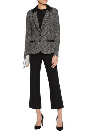 TART Leena faux leather-trimmed tweed blazer