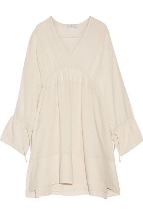 IRO July gathered gauze mini dress