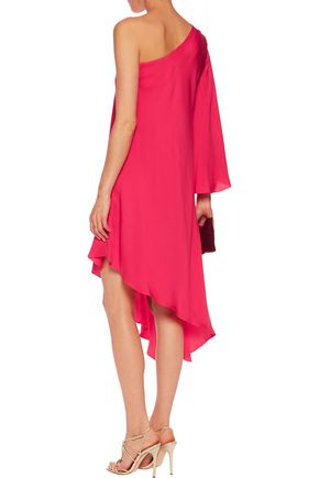 MILLY Tori one-shoulder silk-blend satin dress
