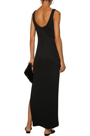 L'AGENCE Ada ribbed-knit maxi dress