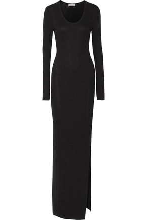 L'AGENCE Olympia ribbed-knit maxi dress