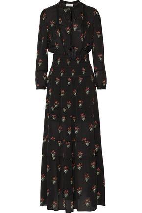 A.L.C. Cosimo tassel-trimmed printed silk maxi dress