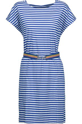 M.I.H JEANS Striped cotton-jersey mini dress