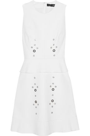 PROENZA SCHOULER Eyelet-embellished cotton-blend mini dress