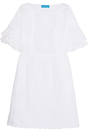 M.I.H JEANS Boysy embroidered cotton and linen-blend mini dress