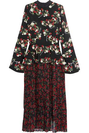 MOTHER OF PEARL Andres floral-print silk dress