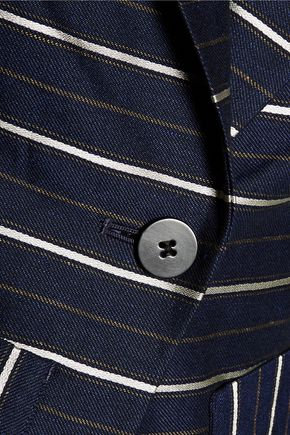 DEREK LAM 10 CROSBY Striped metallic twill blazer