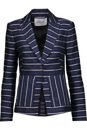 DEREK LAM 10 CROSBY Striped metallic twill blazer
