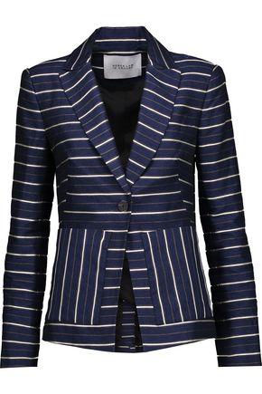 10 CROSBY DEREK LAM Striped metallic twill blazer