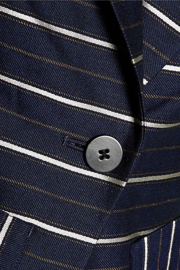 cff3a28119803 Striped metallic twill blazer | DEREK LAM 10 CROSBY | Sale up to 70 ...