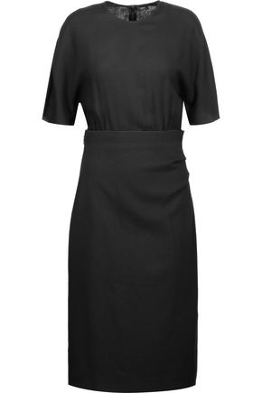 JOSEPH Stevie-Mix paneled crepe midi dress