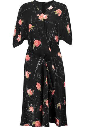 CHALAYAN Wrap-effect printed silk dress