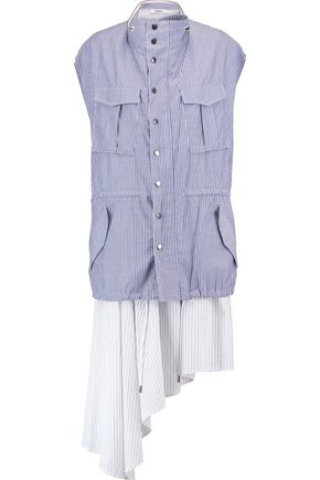 CHALAYAN Layered striped cotton dress