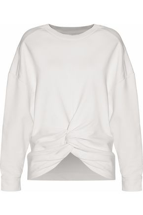IRO Twisted cotton-terry sweatshirt