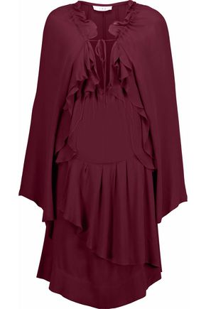 IRO Ruffled crepe dress
