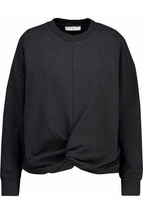 IRO Twist-front cotton sweatshirt