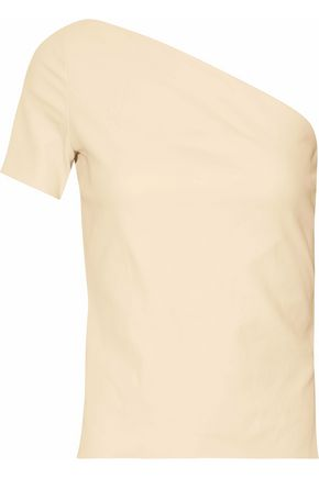 HELMUT LANG One-shoulder stretch-leather top