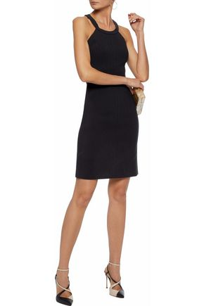 ELIZABETH AND JAMES Stretch-cady mini dress