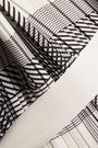 HELMUT LANG Tie-back layered checked plissé-crepe midi dress