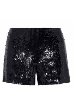 ALICE + OLIVIA Sequinned silk shorts