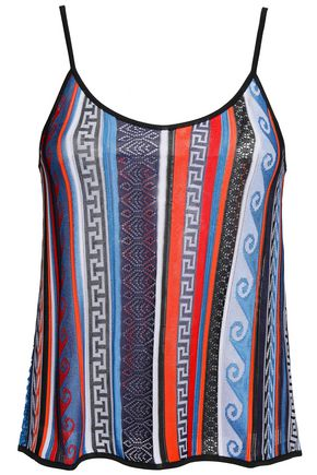 MARY KATRANTZOU Cold-shoulder knitted top