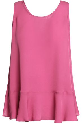 JOIE Micha layered silk and chiffon top