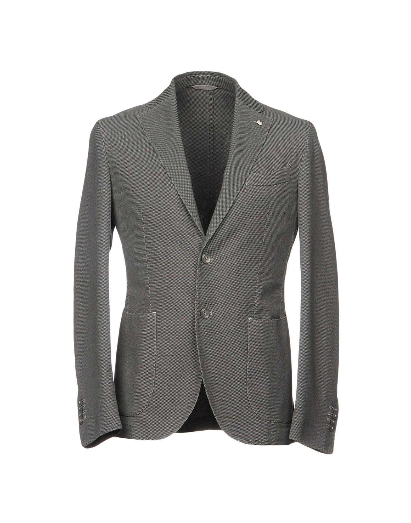 《送料無料》L.B.M. 1911 メンズ テーラードジャケット グレー 48 コットン 70% / ナイロン 28% / ポリウレタン 2%