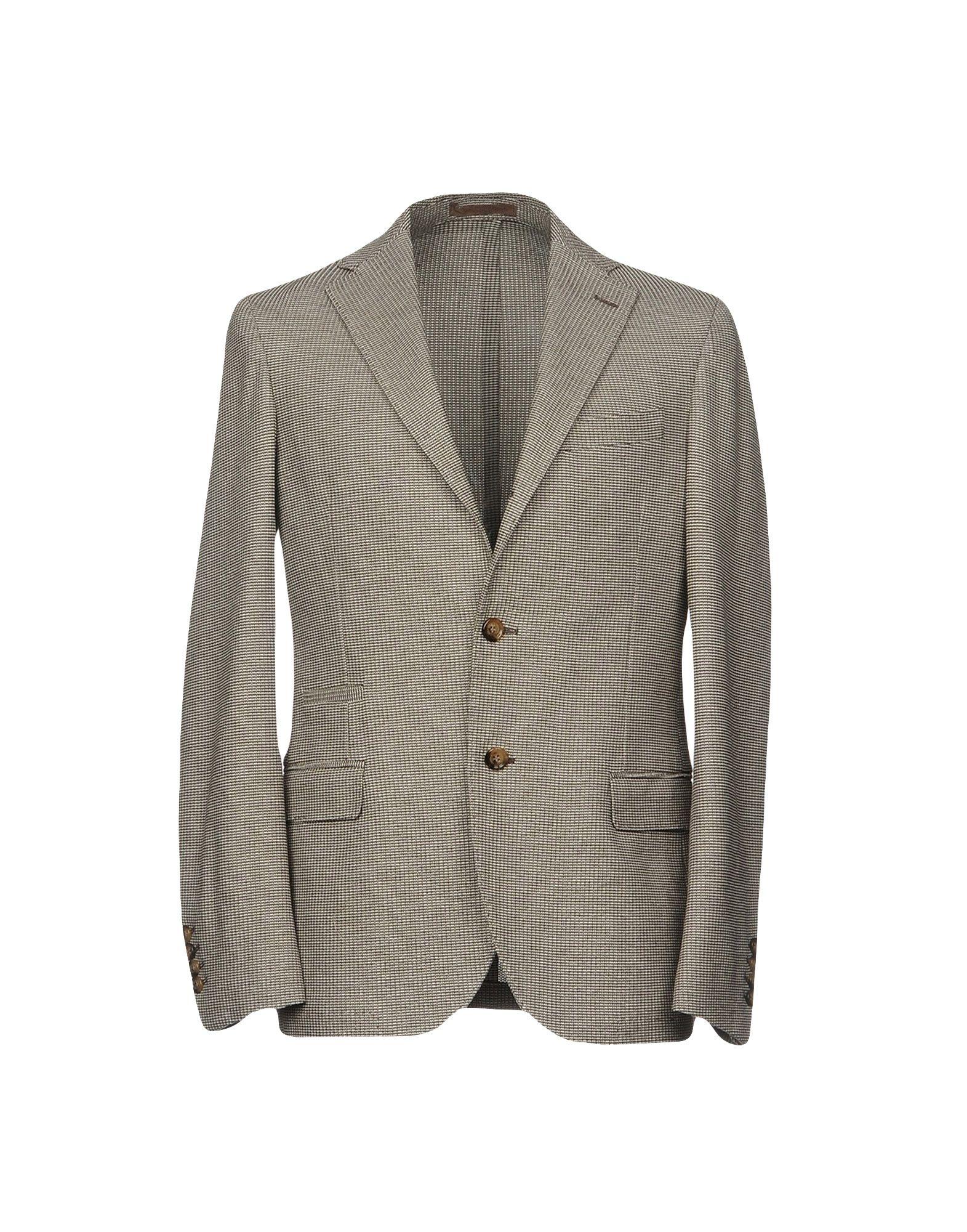 《送料無料》ELEVENTY メンズ テーラードジャケット ダークブラウン 52 100% コットン