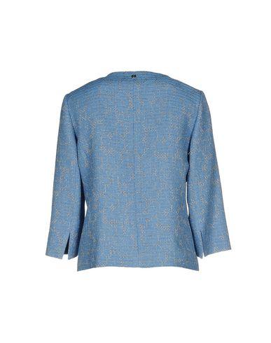 Фото 2 - Женский пиджак  пастельно-синего цвета