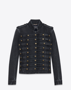 SAINT LAURENT Casual Jackets D Officer vest in faded black denim f