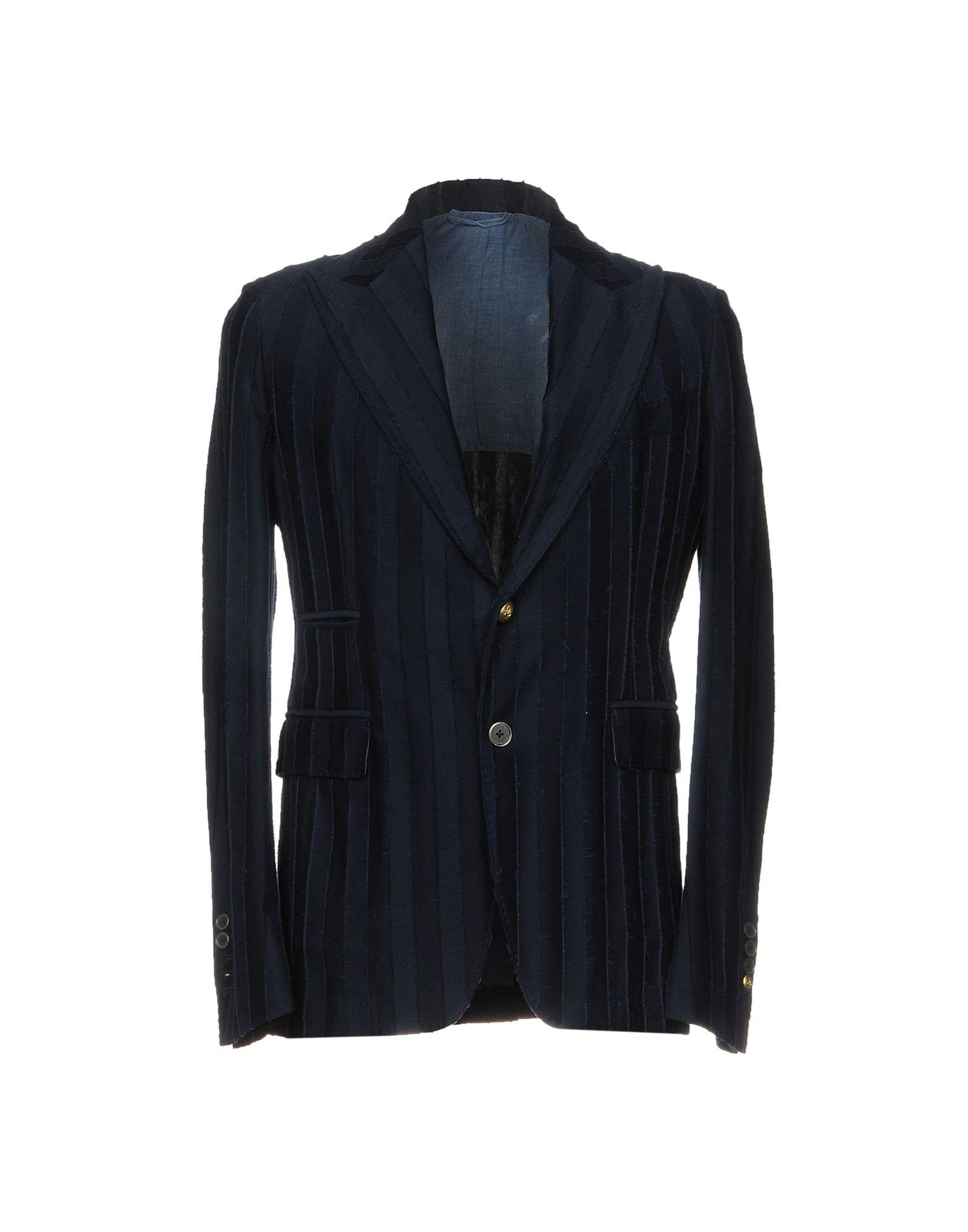 《送料無料》JOHN SHEEP メンズ テーラードジャケット ブルー 46 コットン 100%