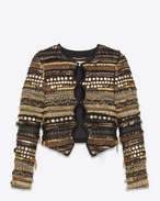 SAINT LAURENT Blazer Jacket D Hunter jacket in embroidered black sablé f