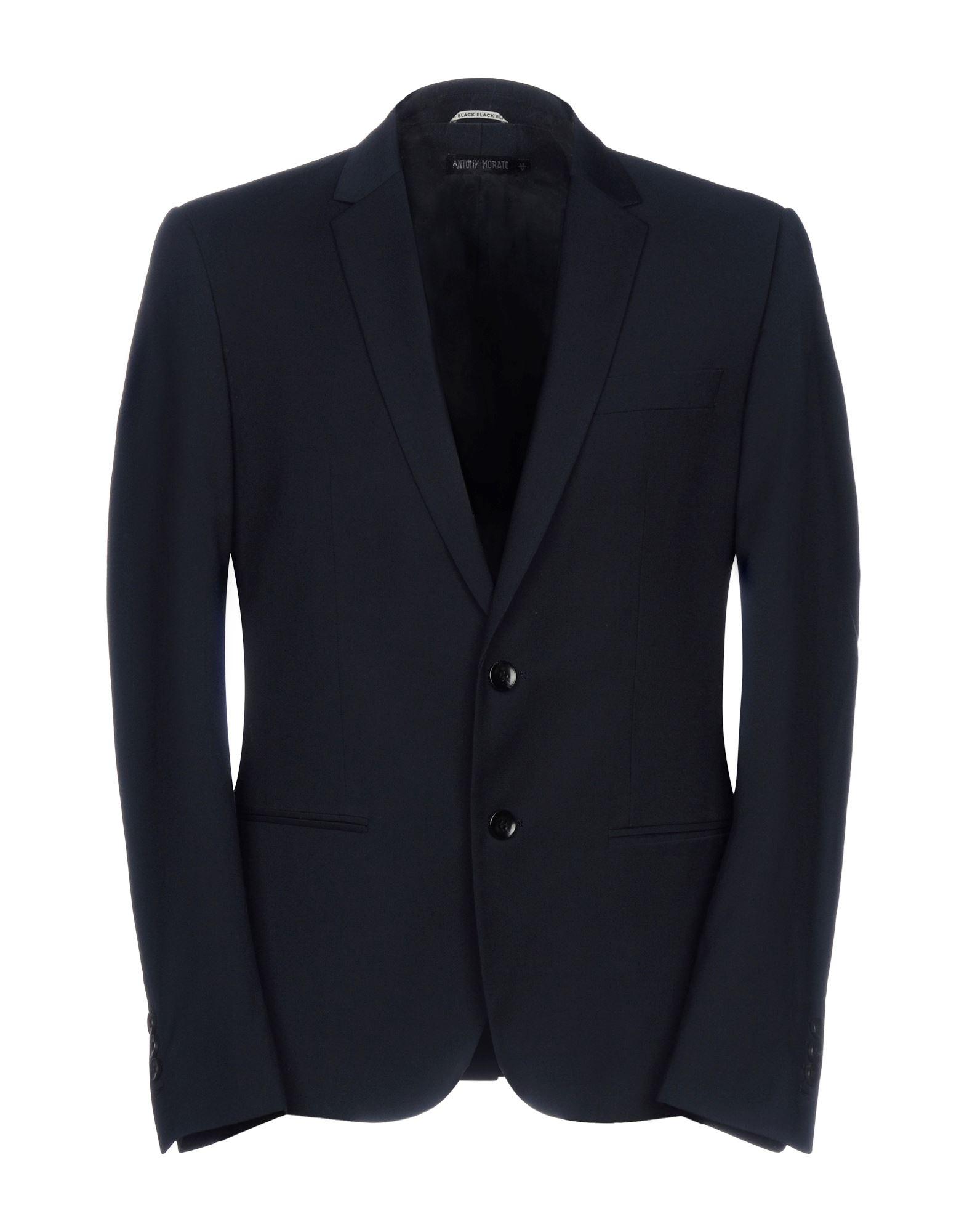 《送料無料》ANTONY MORATO メンズ テーラードジャケット ダークブルー 48 ポリエステル 65% / レーヨン 24% / ウール 9% / ポリウレタン 2%