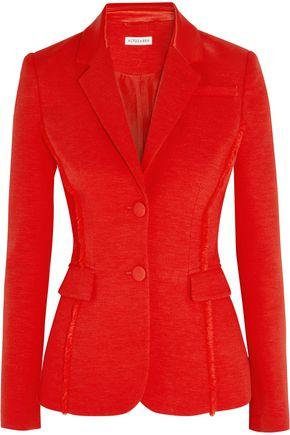 ALTUZARRA Fenice frayed stretch-crepe blazer