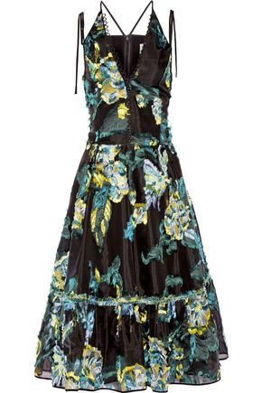 ERDEM Glenna fil coupé midi dress