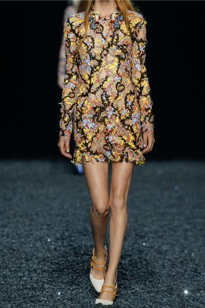 MARY KATRANTZOU Embellished tulle mini dress