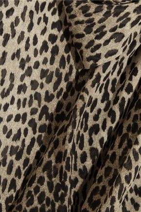 c64f76994ebf0 ... SAINT LAURENT Pussy-bow leopard-print silk-georgette shirt ...