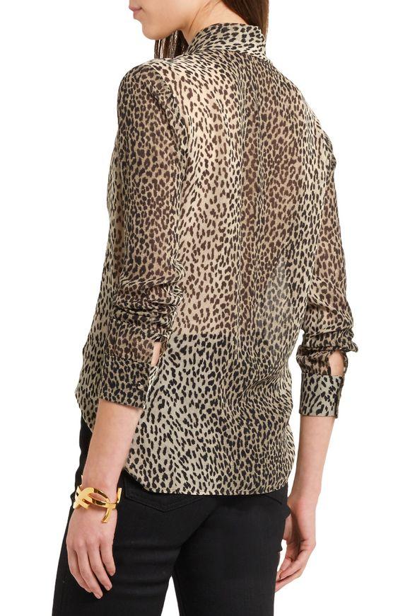 70afc8e72e25d Pussy-bow leopard-print silk-georgette shirt
