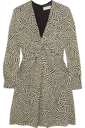 SAINT LAURENT Printed crepe mini dress